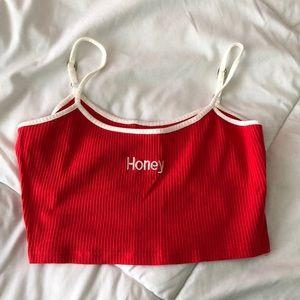 red honey crop-top